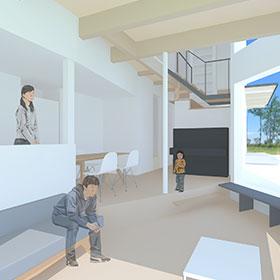 内部空間の収納や空間をパースで説明