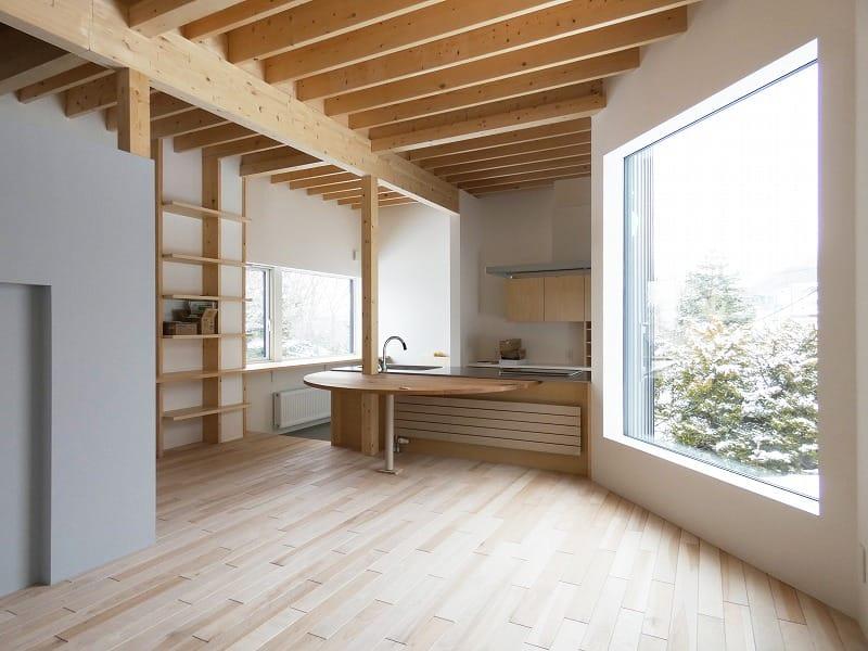 富谷洋介建築設計の手稲区の住宅オープンハウスダイニング