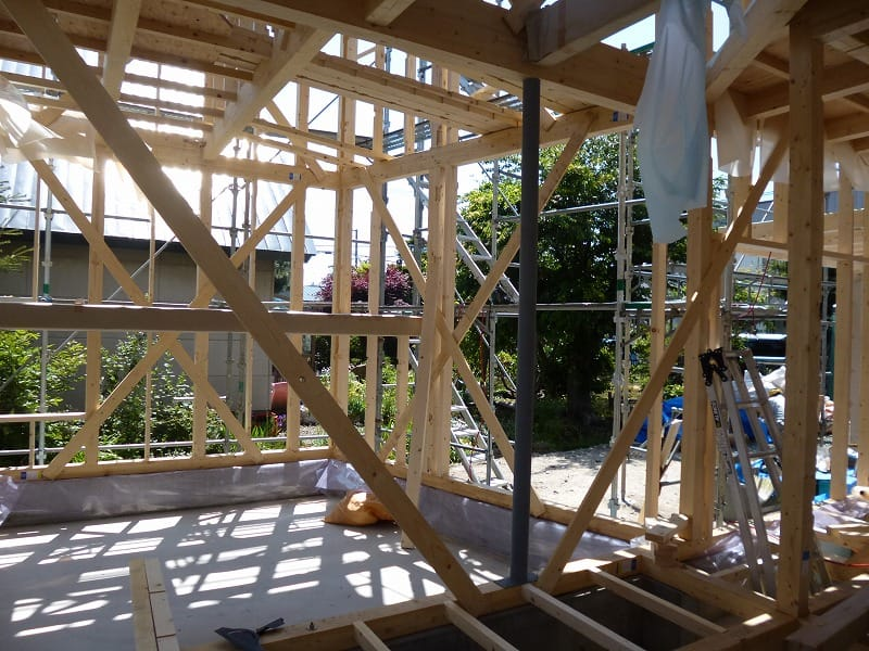 「北区の住宅」建方工程