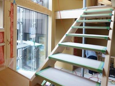 北区の住宅 階段組上がり