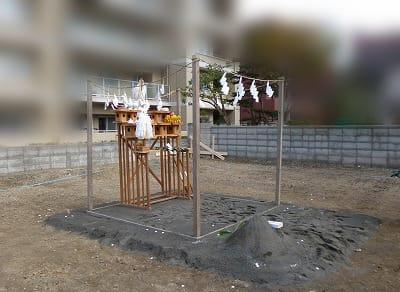 地鎮祭祭壇