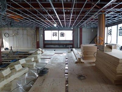 下地工事中 富谷洋介建築設計 西区のリノベーション