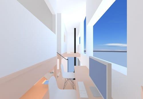 Project KA 。ホールから吹き抜けを見る。