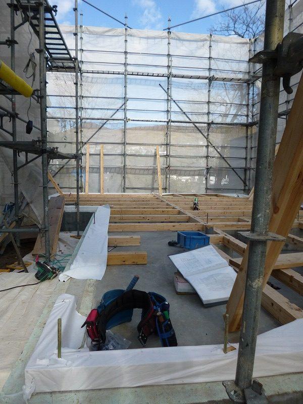 風景を望む住宅、基礎工程【Project KA】