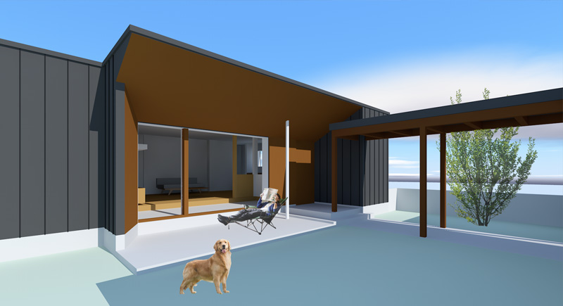 広大な敷地に犬と共に住まう終の棲家の計画